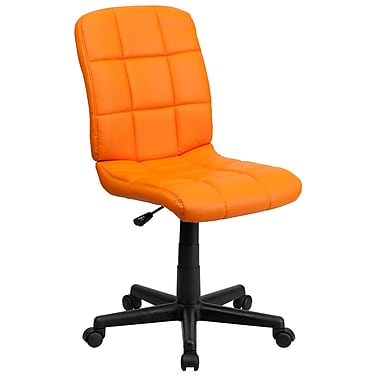 Flash Furniture GO-1691-1-ORG-GG Vinyl Mid-Back Armless Task Chair, Orange