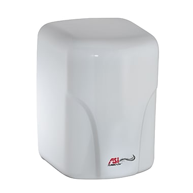 ASI Turbo Dri High Speed Hand Dryer Porcelain Enamel Finish White