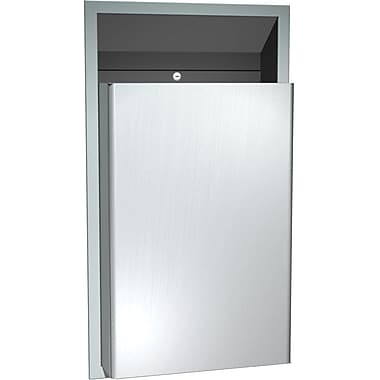 ASI Semi-Recessed Waste Receptacle, Stainless Steel