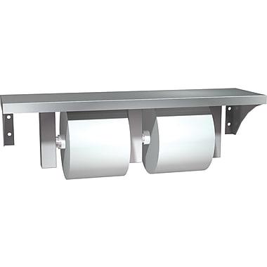 ASI Double Roll Bathroom Tissue Dispenser/Holder with Shelf, Stainless Steel