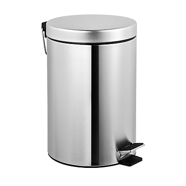 ASI Step-on Waste Receptacle, Stainless Steel