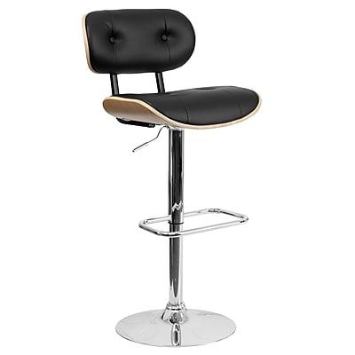 Flash Furniture 46'' Contemporary Adjustable Height Vinyl Bar Stool, Beech (SD2228BEECH)