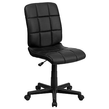 Flash Furniture GO-1691-1-BK-GG Vinyl Mid-Back Armless Task Chair, Black