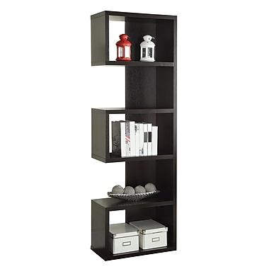 Coaster® Wood Semi-Backless Bookshelf, Cappuccino