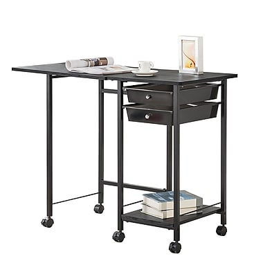 COASTER Folding Desk with Casters, (8004)
