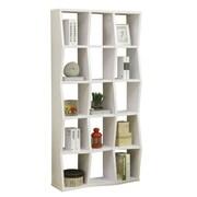 Coaster Asymmetrical 36'' 3-Shelf Bookcase, White (801180)