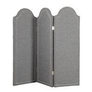 "Coaster® 72"" 3-Panel Folding Screen With Nailhead Trim, Grey"