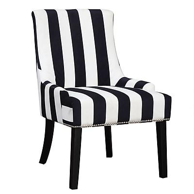 COASTER Velvet Armless Chair, Black/White (902188)