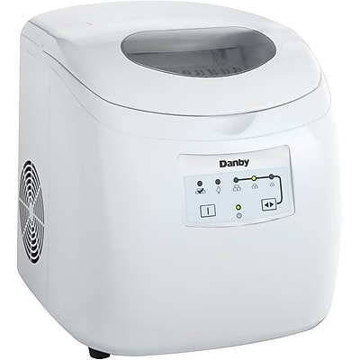 Danby® DIM2500 2 lbs. Portable 3 Cube Sizes Ice Maker, White
