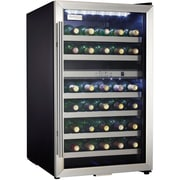 Danby® Designer DWC114 4 cu.ft. Free-Standing Dual-Zone Wine Cooler, Black/Stainless Steel