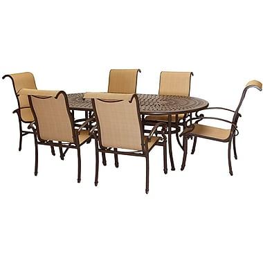 La-Z-Boy® Kerrington 7-Piece Outdoor Patio Dining Set, Brown/Tan