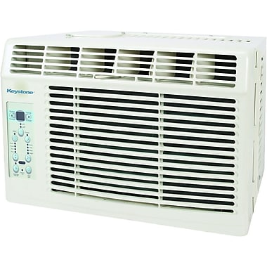 Keystone® KSTAW05B Energy Star 6000 BTU Window-Mounted Air Conditioner With Remote Control, White