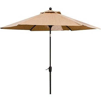 Hanover™ Monaco 9' Tiltable Patio Umbrella, Calico/Burnt Bronze