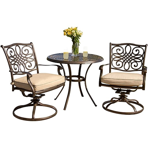 https://www.staples-3p.com/s7/is/ - Hanover™ Traditions 3-Piece Patio Bistro Set, Bronze/Copper Metallic