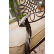 Hanover™ Traditions 5Piece Swivel Chair Outdoor Patio Dining Set, Bronze/Copper Metallic/Natural Oat