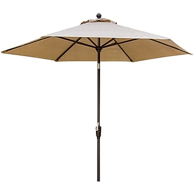 Hanover™ Traditions 9' Tilting Patio Umbrella, Canvas /Bronze