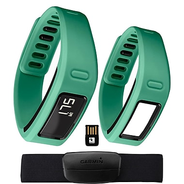Garmin® vivofit™ Fitness Band Bundle With Heart Rate Monitor/2 Bracelets/USB ANT Stick, Teal
