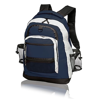 Natico Originals Sports and Travel Multi Pocket Backpack, Blue