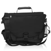 Natico Originals Multi Pocket Messenger Bag, Black