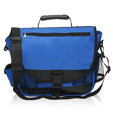 Natico Originals Multi Pocket Messenger Bag, Blue