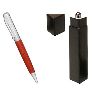 Natico Originals Ballpoint Pen, Silver/Rosewood