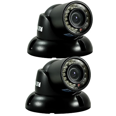 REVO™ RCTS30-3BNDL2N 700 TVL Mini Turret Surveillance Camera W/100' Night Vision, 2/Pack