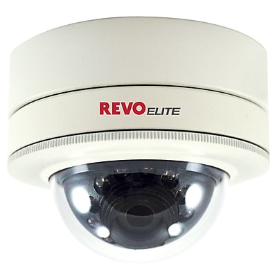 REVO REVDM700-2RC Wired Dome Camera with Day/Night Vision, White