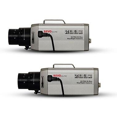 REVO™ REXN600-2BNDL Elite 600 TVL Indoor Commercial Grade Box Surveillance Camera, 2/Pack