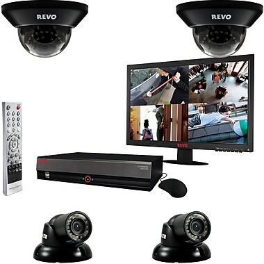 REVO™ 4CH 1TB DVR Surveillance System W/4 700TVL 100' Night Vision Cameras & 18 1/2