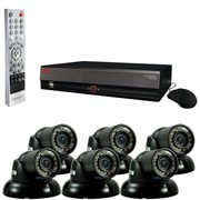REVO™ 8CH 1TB DVR Surveillance System W/6 700TVL 100' Night Vision Mini Turret Cameras, Black