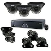 REVO™ 16CH 960H 2TB DVR Surveillance System with 3 Dome and 5 Mini Turret Cameras, Black