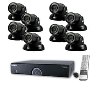 REVO™ 16CH 960H 2TB DVR Surveillance System W/8 700TVL 100' Night Vision Mini Turret Cameras, Black