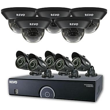 REVO™ 16CH 960H 2TB DVR Surveillance System W/700TVL 5 Dome 5 Bullet Cameras, Black