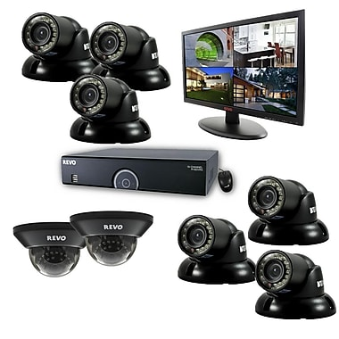 REVO™ 16CH 960H 2TB DVR Surveillance System W/8 700TVL Night Vision Cameras & 21 1/2