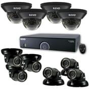 REVO™ 16CH 960H 2TB DVR Surveillance System W/700TVL 4 Dome 6 mini Turret Cameras, Black