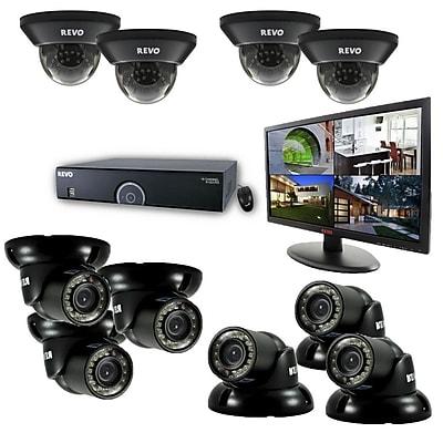 REVO™ 16CH 4TB DVR Surveillance System W/700TVL 4 Dome 6 Mini Turret Camera & 21 1/2