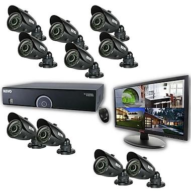 REVO™ 16CH 960H 4TB DVR Surveillance System W/10 700TVL 100' Bullet Camera & 21 1/2