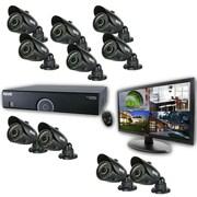 "REVO™ 16CH 960H 4TB DVR Surveillance System W/10 700TVL 100' Bullet Camera & 21 1/2""' Monitor, Black"