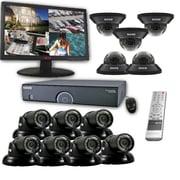 "REVO™ 16CH 8TB DVR Surveillance System W/12 700TVL 100' Night Vision Cameras & 23"" Monitor, Black"
