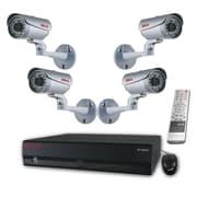 REVO™ 16CH HD 2TB NVR Surveillance System W/8CH POE Switch & 4 1080p HD Bullet Cameras, Silver/Black