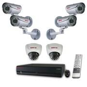 REVO™ 16CH HD 4TB NVR Surveillance System W/8CH POE Switch & 6 1080p HD Cameras, White/Silver/Black