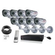 REVO™ 16CH HD 8TB NVR Surveillance System W/Built-in 8CH POE Switch & 8 1080p HD Bullet Cameras