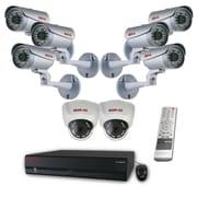 REVO™ 16CH HD 4TB NVR Surveillance System W/8CH POE Switch & 8 1080p HD Cameras, White/Silver/Black
