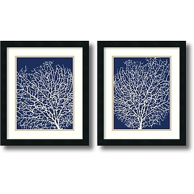 Amanti Art Navy Coral Framed Art by Sabine Berg, 2/Pack (DSW1004305)
