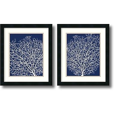 Amanti Art ? Art encadré « Navy Coral » par Sabine Berg, 2/pqt (DSW1004305)