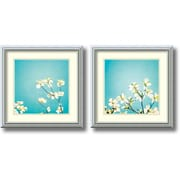 "Amanti Art ""Delicate Skies of Blue - Set of 2"" Framed Art by Carolyn Cochrane"