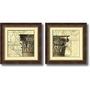 """Amanti Art """"Architectural Inspiration - Set of 2"""" Framed Art by Vision Studio"""