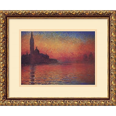 Amanti Art Dusk, Sunset in Venice, 1908 Framed Art by Claude Monet (DSW408190)
