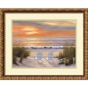 "Amanti Art ""Paradise Sunset"" Framed Art by Diane Romanello"