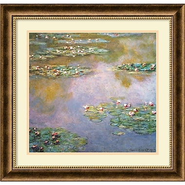 Amanti Art Water Lilies, 1907 Framed Art by Claude Monet (DSW419174)